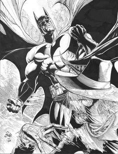 Batman vs. Scarecrow by Ethan Van Sciver