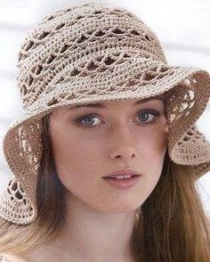 Patrón 1037  Sombrero a Crochet