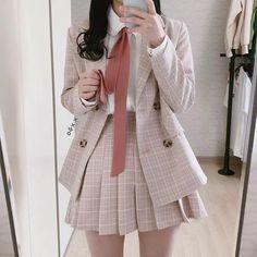 Fashion Outfits For School Uniform - Fashion Kawaii Fashion, Cute Fashion, Fashion Outfits, K Fashion, Pastel Fashion, Japan Fashion, Fashion Spring, Modest Fashion, Fashion Styles