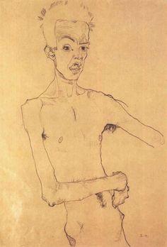 Egon Schiele, Self-Portrait, 1910.