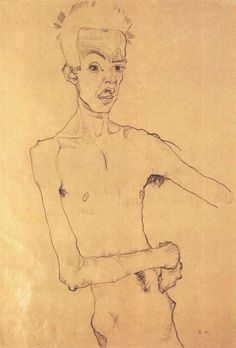 Egon Schiele, Self-Portrait, 1910.