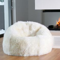 Superior Longwool Ivory Beanbag Amazing Ideas