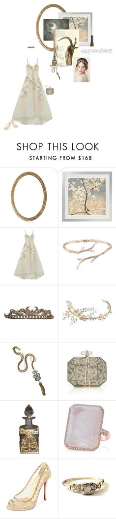 """""""beauty and the beast"""" by summersdream ❤ liked on Polyvore featuring Notte by Marchesa, Anyallerie, Nina, Lulu Frost, Marchesa, Christian Louboutin and Cyan Design"""