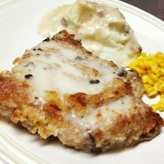 Awesome Baked Pork Chops Baked Pork Chops Recipe I added my Portuguese grilled onions to it I also used reg bread crumbs and just added Italian seasoning Pork Chop Recipes, Meat Recipes, Cooking Recipes, Cooking Tips, Dairy Recipes, Dinner Recipes, Picnic Recipes, Spinach Recipes, Gastronomia