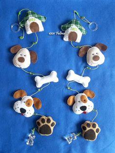 felt dog keychain