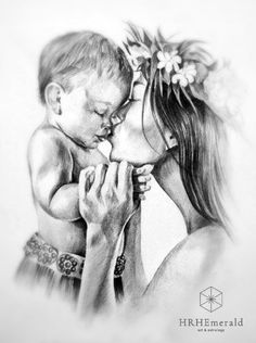 Ideas For Baby Ilustration Art Boys Love Drawings, Art Drawings Sketches, Pencil Drawings, Mother Art, Mother And Baby, Girl Tumbler, Baby Drawing, Baby Tattoos, Tatoo Art