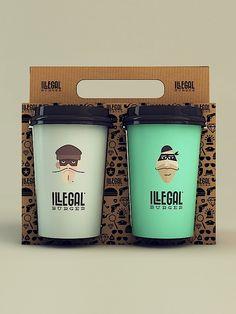 Verpackung: Illegales Design für illegale Burger   KlonBlog