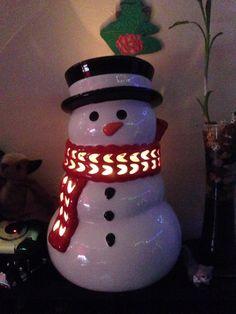 Large Snowman 14 5 Oz 3 Wick Candle Luminary Slatkin