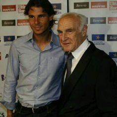 Rafa and his grandfather Rafael Nadal :)