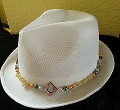 Attractive beaded hat band by attractivedesigns on Etsy