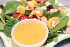 Summer Salad with Peach dressing
