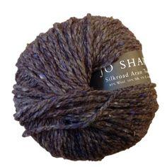 Silkroad Aran Tweed 118, Dusk, wool, silk and cashmere blend, 50g