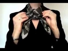 How to tie an Hermes scarf (or any other square silk scarf) into a Snowball knot. With a Moyenne Classique scarf ring from www.maitaicollection.com
