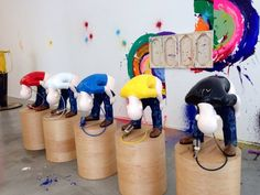 Hauser & Wirth : Paint-t - (Group of 5 sculptures; fibre glass, acrylic paint, wood, air tanks)