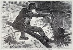 Winslow Homer : The Army of the Potomac - A Sharp-Shooter on Picket Duty at Davidson Galleries