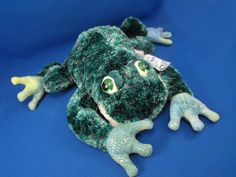 New product 'Aurora 26056 Flopsies Green Tree Frog JUMPER' added to Dirty Butter Plush Animal Shoppe! - $12.00 - Aurora No. 26056 Flopsies Plush 12 inch Green Chenille Tree Frog JUMPER - Bulging Plastic Eyes with White Velour around …
