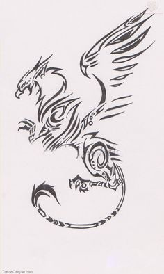 griffin tatoos | Download Tribal Griffin Tattoo Design Picture #11318