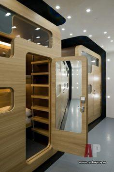 Дизайн интерьера отель капсульного типа Sleepbox Hotel Тверская в футуристическом стиле   #Interior #design capsule #hotel Sleepbox Hotel Tverskaya futuristic