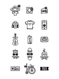 TEES Characters by Predrag Milankovic, via Behance