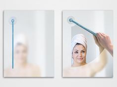 The Mirror Wiper Blade is a wiper blade similar to one you'd find on a car but it's attached to a suction cup so you can attach it to your bathroom mirror!