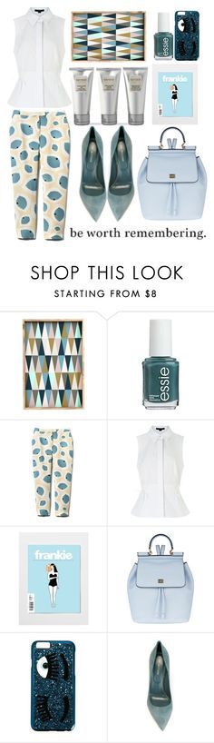 """""""unforgettable."""" by kaylynista ❤ liked on Polyvore featuring ferm LIVING, Essie, Alexander Wang, Dolce&Gabbana, Chiara Ferragni, Laura Mercier and Sergio Rossi"""