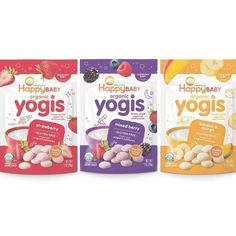 Happy Baby Organic Yogis Freeze-Dried Yogurt & Fruit Snacks 3 Flavor Variety Pack  1 Ounce Bag (Pack of 6) Banana Mango  Mixed Berry  Strawberry (Packaging May Vary) Price 10,23