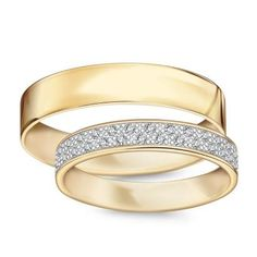 Złote obrączki Forever (565-565D - 26431) - YES Beautiful Rings, Most Beautiful, Bangles, Bracelets, Wedding Bands, Engagement Rings, Womens Fashion, Weeding, Jewelry
