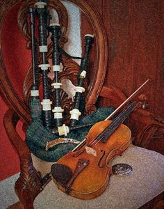 the violin and bagpipes
