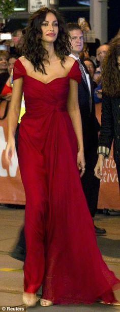 Madalina Ghenea + gown