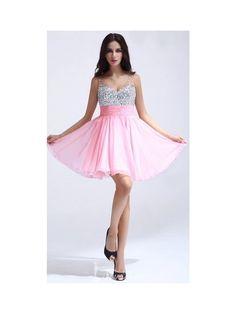 Sexy Brilliant Sweetheart Chiffon A-Line Short-Length Dress - Graduation Dresses