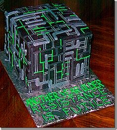 Resistance is Futile and Tasty: Star Trek Borg Cakes and Cupcakes   Borg cube