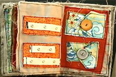 I Spy Bag and Quiet Book tutorials--love the BIG buttons on that quiet book.