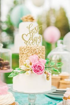 Elegantly Colored Wedding Cakes - MODwedding