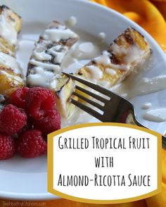 SO EASY … yet so impressive! Lusciously warm caramelized fruit highlighted by a decadently sweet sauce. Mmmmmm ... Incredibly delicious but simple, too!
