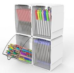 Great idea to store your pens, markers and pencils. Craft Storage.