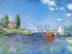 Claude Monet - les bateaux rouges à Argenteuil, 1875
