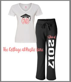 Personalized Senior Pants and Shirt Set by CottageatRusticLane