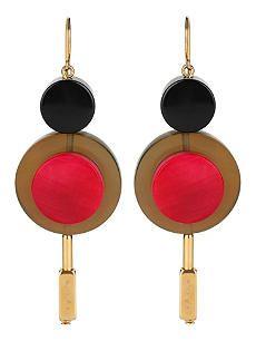 Marni Horn-Embellished Drop Earrings
