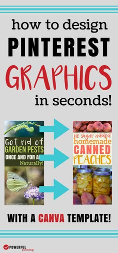 Create amazing graphics for your blog in seconds by learning how to create a template in Canva. Save time blogging and create branded graphics for Pinterest. | Blogging Tips | Pinterest Tips | How to Blog Earn More Money, Earn Money From Home, Make Money Blogging, Make Money Online, How To Make Money, Pinterest Design, Marketing Plan, Media Marketing, Blogging For Beginners