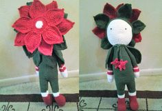 Christmas Star Kris flower doll made by Kim R - crochet pattern by Zabbez