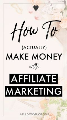 Affiliate marketing is one of the easiest ways to earn a passive income from your blog. I am totally in love with affiliate marketing, now that I finally figured out how it works and how to make money from affiliate marketing, even as a small blogger. I started monetizing my blog and really looked into it that I really understood how to actually make money with affiliate marketing. I even earned more than $400 last month thanks to it!