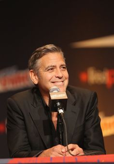 """Pin for Later: 4 Amazing Things That Happened When George Clooney Crashed Comic-Con He Spoke About His New Wife, Amal Alamuddin """"It's not lost on me that I'm spending my honeymoon at Comic-Con. My wife was as confused about what Comic-Con [is] as you are."""""""
