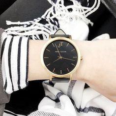 The Bondi Black and Gold Minimal watch style. Unisex watch style. John Taylor Watch.