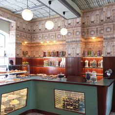 café at Fondazione Prada in Milan / by Wes Anderson (photo by JJ Martin)