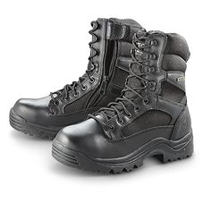 bb5bd4ca498827 HQ ISSUE Men s Side Zip Tactical Boots Waterproof Black   Want additional  info  Click on