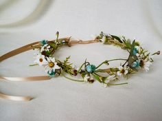 Flower Crown Hippie Natural woodland style daisies by AmoreBride, $37.95
