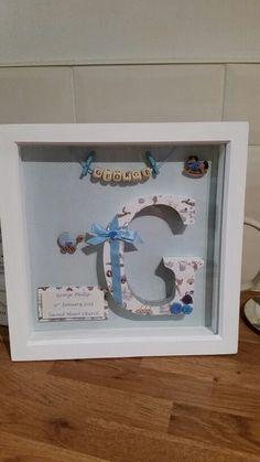 Christening gift craft handmade for a little boy
