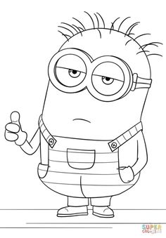 Printable Minion Coloring Pages . 24 Printable Minion Coloring Pages . Minion Coloring Pages Best Coloring Pages for Kids Minion Coloring Pages, Unicorn Coloring Pages, Cartoon Coloring Pages, Coloring Pages To Print, Free Printable Coloring Pages, Coloring Book Pages, Coloring Pages For Kids, Minion Drawing, Minions Images
