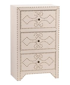 This Embellished Three-Drawer Cabinet by Southern Enterprises is perfect! 3 Drawer Chest, Nailhead Trim, Creative Decor, Diy Organization, Painted Furniture, Furniture Ideas, Joss And Main, Home Crafts