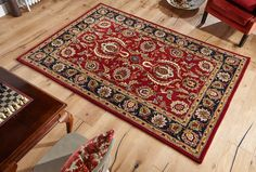 With Timeless Traditional Designs, this Orient Red Rug is an ideal centre piece floor element for your décor. #traditionalrugs #redtraditionalrugs #redrugs #largerugs #woolrugs